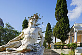 Statue of Achilles in the garden of Achilleion palace, Corfu, Ionian Islands, Greece