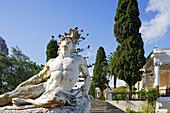 Achillesstatue im Garten des Achilleion Palast, Korfu, Ionische Inseln, Griechenland