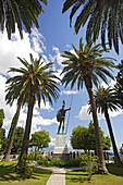 Statue of Achilles in the garden of the Achilleion, Korfu, Ionian Islands, Greece