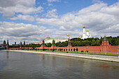 The Kremlin and the river Moskva, Moscow Kremlin, Moscow, Russia