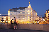 Hotel Baltschug Kempinsk in the evening light, Moscow, Russia
