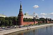 Moskva river and the Kremlin, Moscow Kremlin, Moscow, Russia