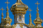 East chapel in the park of Peterhof Palace, St. Petersburg, Russia