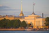 Neva river and the Russian Admirality, Saint Petersburg, Russia