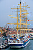Sailing Cruiseship Royal Clipper, Star Clippers Cruises in the Port of Venice, Venice, Veneto, Italy