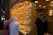 Women outside a jewellery shop at Souq al-Hamidiyya covered market, Damascus, Syria, Asia