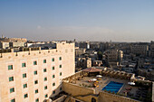 View from the rooftop of Sheraton Aleppo Hotel, Aleppo, Syria, Asia