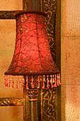 Lamp in the bedroom, Dar Zamaria Martini Hotel, Aleppo, Syria, Asia