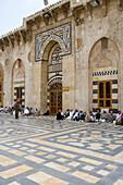Courtyard of Aleppo Great Mosque, Aleppo, Syria, Asia