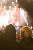 Spectators at rock concert, Geiselwind, Bavaria, Germany