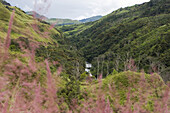 View at a valley and a river, Langila, Papua New Guinea, Oceania
