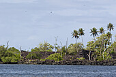 Ruins of the town Nan Madol on the waterfront, Pohnpei, Micronesia, Oceania