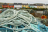Außenaufnahme, Portmagee am Port Magee Channel, Iveragh, Ring of Kerry, County Kerry, Irland, Europa