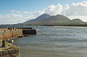 outdoor photo, view from Old Head (near Louisburgh) to Croagh Patrick , County Mayo, Ireland, Europe