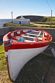 Außenaufnahme, Fischerboot bei Malin Beg, Malin Bay, County Donegal, Irland, Europa