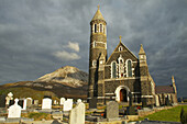 outdoor photo, Church of the Sacred Heart with Mount Errigal (752m), Dunlewy, County Donegal, Ireland, Europe