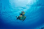 Snorkeling, Netherlands Antilles, Bonaire, Caribbean Sea