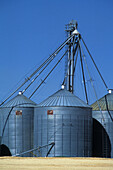 Grain storage silos, Northern Idaho. USA.