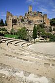 Amphitheater in Yedra castle. Roman origin, rebuilt by the Arabs. Parque Natural de Cazorla. Jaén province. Spain