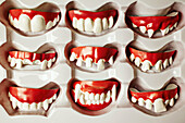 A box of funny costume teeth