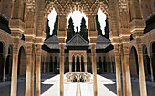 Alhambra, Andalucia, Andalusia, Architecture, Art, Arts, Building, Buildings, Castle, Castles, Color, Colour, Column, Columns, Court of the Lions, Courtyard, Courtyards, Daytime, Europe, Exterior, Fountain, Fountains, Granada, Historic, Historical, Histo