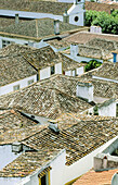 Color, Colour, Daytime, Europe, Exterior, Home, Obidos, Old Town, Outdoor, Outdoors, Outside, Portugal, Roof, Roofs, Tile, Tiles, Typical, Vertical, View from above, J89-283898, agefotostock