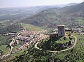 Aerial view of Feria. Badajoz province. Extremadura. Spain