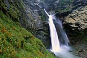 Waterfall. Swiss Alps
