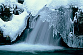Waterfall. Dolomites. Italian Alps