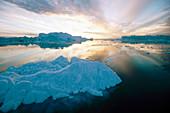 Iceberg in Jakobshavn. Diskobay. Greenland