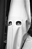 Adult, Adults, Anonymous, B&W, Black-and-White, Catholicism, Celebrate, Celebrating, Celebration, Celebrations, Christian, Christianity, Contemporary, Europe, Faith, Folk, Folklore, Holy Week, Hood, Hooded, Hoods, Human, Looking at camera, One, One perso