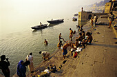 Morning ablutions in the Ganges River. Varanasi. India