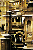 Labyrinth of Havelis (palaces) of different syles. Jaisalmer. Rajasthan. India
