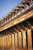 Inner arcade. Jami Masjid (Great Mosque). Fatehpur Sikri historical site. Southwestern Uttar Pradesh. India