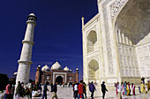 Visitors at the Taj Mahal. Agra. India