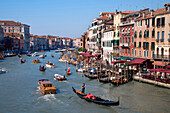 The Grand Canal with its many palaces, Canal Grande, Venice, Veneto, Italy