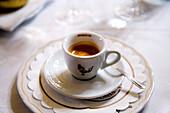 Close up of an Espresso, Verona, Veneto, Italy
