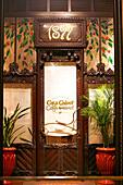 Entrance of Casa Calvet Restaurant, Eixample, Barcelona, Catalonia, Spain