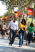 Pedestrian at Passieg de Gracia, Eixample, Barcelona, Catalonia, Spain