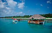 Seaplane near Maldive Island, Maldives, Indian Ocean, Meemu Atoll