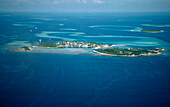 Aerial View of Maldives, Maldives, Indian Ocean, South-Male Atoll, Kandooma, Guraidhoo
