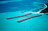 Aerial View of Medhufushi Island, Maldives, Indian Ocean, Meemu Atoll