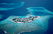Aerial View of Local Inhabitants Island, Maldives, Indian Ocean, South-Male Atoll