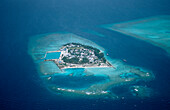 Aerial View of Maldives Island, Maldives, Indian Ocean, Meemu Atoll