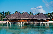 Beachbar on Maldivian Island, Maldives, Indian Ocean, Medhufushi, Meemu Atoll