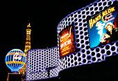 Außenansicht des Hotel Planet Hollywood bei Nacht, Las Vegas, Nevada, USA, Amerika