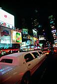 Traffic at night at Time Square, Midtown Manhattan, New York, USA, America