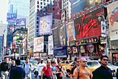 City scenery at Time Square, Midtown Manhattan, New York, USA, America