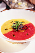 Coulis dish in Restaurant Grayz, Manhattan, New York, USA, America