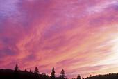 Sunrise skies over Crescent Lake. Lake Superior PP. Ontario, Canada